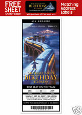 6 The Polar Express Movie Birthday Party Personalized Ticket Style Invitations