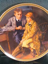 Norman Rockwell Confiding In The Den Knowles 1982 Ltd Ed Plate Mib