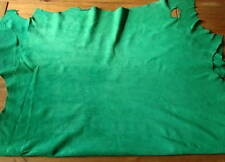 LARGE EMERALD GREEN SUEDE - GARMENT QUALITY - #1302