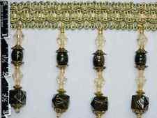 "3"" Exquisite Tassel Fringe Marble Bead Trim Olive Wholesale 50 Yards"