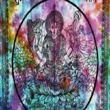 "Laxmi Tapestry 72' X 108""  Tie / Dye Go Go Black KING Bed Spread Wall Hanging"
