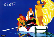 East Coast Messing About on the Water LNER Train Rail Travel  Poster Print
