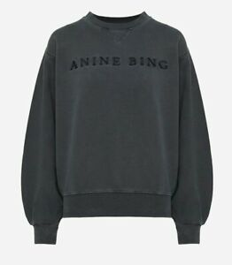 ANINE BING ESME SWEATSHIRT - WASHED INDIGO
