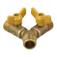 "1/2"" Male Thread Brass 3 Way Solid Y Ball Valve For Fuel Oil Gas Water system"