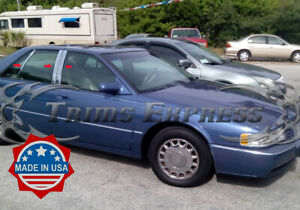 1992-1997 Cadillac Seville 6Pc Chrome Pillar Post Stainless Steel Trim