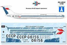 Revaro Decal IL-62 Aeroflot First Prototype Veb Plasticart/Reifra 1/100
