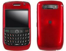 Red Snap On Hard Plastic Phone Protector Cover Case For BlackBerry Curve 8900