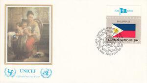 Vereinte Nationen New York FDC Ersttagsbrief 1982 Flagge Philippines Mi.405