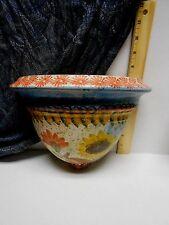 Italian Art Pottery Wall Sconce Terra Cotta  Italian Hand Painted  Italy