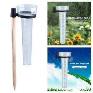 Plastic Water Rain Gauge Rainwater Rainfall Guage Garden U Outdoor Meter A3K5