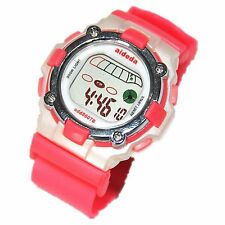 School Girls Digital Watches Pink Water Resistant Alarm Day Date Light Timer SYD