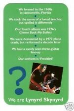 Lynyrd Skynyrd #R Pop Rock Music Card