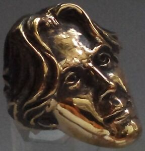 Bronze Oscar Wilde Ring Custom Sized Irish playwright novelist essayist R-198b