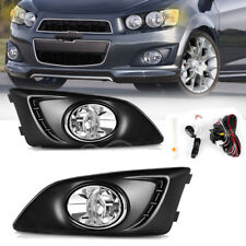 for 2012-2016 Chevy Sonic/Aveo Clear Bumper Fog Light Lamps +Switch +Wiring PAIR