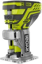 Ryobi Trim Router Tool Bit Woodworking Base Edge Compact Fine Micro-Adjusting