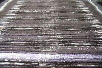 STRETCH COTTON SATEEN PRINT-DOUBLE BORDER--GREY/BLACK-DRESS FABRIC-FREE P&P