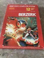 BERZERK 1986 ATARI 2600 Video Game With Box And Manual
