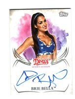 WWE Brie Bella 2015 Topps Undisputed Divas Authentic On Card Autograph