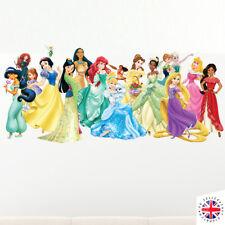Disney Princesse Mur Autocollant Sticker Chambre À Coucher Poster Filles Cendrillon Ariel Moana