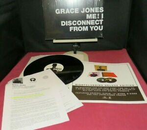 """GRACE JONES Me ! I Disconnect From You 12"""" + Insert & Promo sheet, RSD 2014 - EX"""