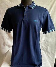 Hugo Boss Polo Men 100% cotton Regular fit color Dark Blue