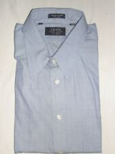 NWT CHAPS RALPH LAUREN BLUE DENIM LOOK 100% COTTON L/S DRESS SHIRT SZ. 17/32-33