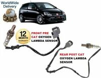 FOR HONDA CIVIC TYPE R 01-2006 FRONT & REAR PRE POST CAT 02 OXYGEN LAMBDA SENSOR