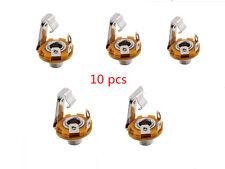 "10pcs 1/4"" 6.35mm Stereo Socket Jack Female Connector Panel Mount Solder MA"