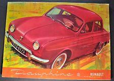 1958 Renault Dauphine Catalog Brochure Nice Original 58