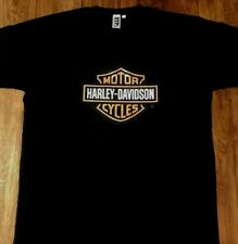Harley Davidson Motorcycle  Men's Unisex Black T-Shirt Holley
