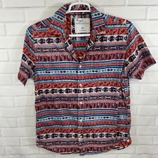 Aeropostale Mens Shirt Short Sleeve Button Up Aztec Size Medium