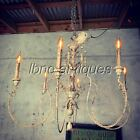 VINTAGE CHARMING SHABBY CHIC 6 LIGHT CHANDELIER. MUST SEE !! L@@k!!