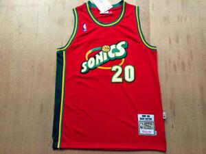 Gary Payton #20 Seattle Supersonics Basketball Team 1997-98 Jersey Men | S-4XL
