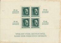 Lot Stamp Germany Mi 650 Sheet 1937 WWII Hitler Reichspateitag Overprint MNG