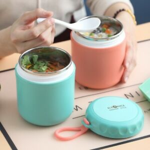 450ml Food Thermal Jar Insulated Soup Thermos Containers Stainless Drinking Cup