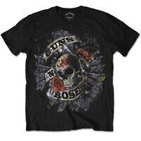 Guns N Roses Skull Logo Firepower Hard Rock Axl Rose Slash Black Mens T-shirt