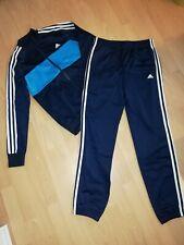 Adidas 2 teiliger Sportanzug Jogginganzug Gr. 164 blau - türkis