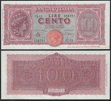 1944 Lire 100 Italia Turrita 10-12-1944 SPL Rif. BI 425 Cat. Alfa € 110,00