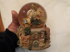 BOYS BEARS SNOW GLOBE MUSIC BOX PLAYS MY FAVORITE THINGS
