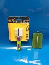 Happy Pet Small Animal Claw Clippers Brushes & Combs Double Sided Comb Green