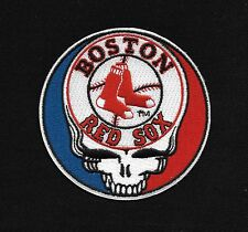 Steal Your Face Grateful Dead Head Skull RED SOX Rockabilly Biker Patch Iron On