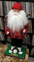 "Santa Golf PGA Tea Time Rare Large 19"" Doll Figurine  Mary  Christmas Holiday"