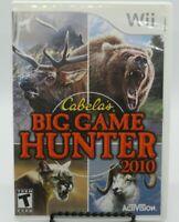 CABELA'S BIG GAME HUNTER 2010 GAME FOR NINTENDO Wii, GAME DISC, CASE & MANUAL