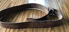 Vintage Leather Belt With Stitch Design 49.5� Long