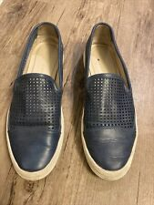 Calvin Klein Leather slip on loafer tennis shoes for women 7.5