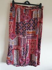 Ladies Multi Floral Elasticated Waist Crop Trousers From George Size 16