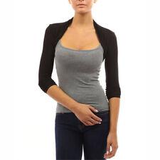 Womens Long Sleeve Bolero Shrug Coat Knit Stretch Cropped Cardigan Top Sweater
