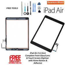 Complete Front Glass/Digitiser Touch Screen Assembly iPad Air (1st Gen) - BLACK