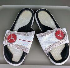 Jumpman Michael JORDAN Hydro IV LS white slide slip on sandals- men's size 11