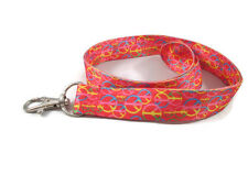 Rainbow Peace Sign Lanyard Key Chain ID Badge Cell Phone Holder Necklace